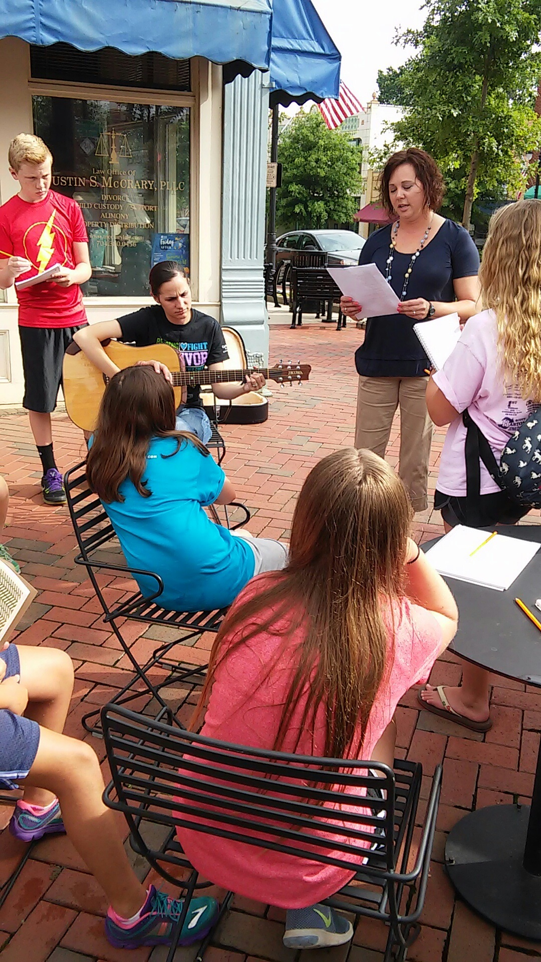 Summer Camp Exploring Downtown Statesville
